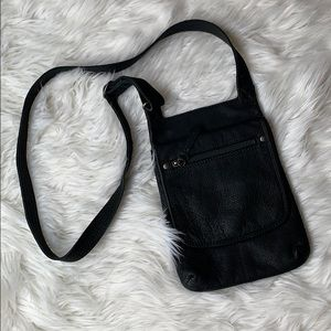 J. Jill black leather crossbody